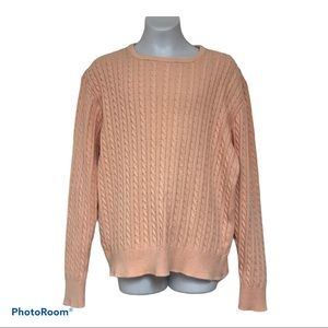 Brooks brothers peach colored sweater large vtg